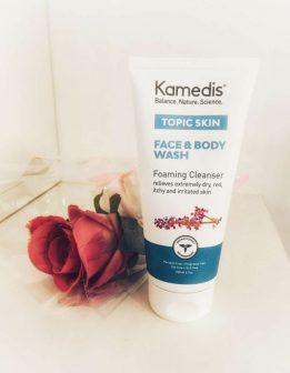 סבון פנים ותרחיץ לעור יבש מצמחי מרפא – Topic skin face and body wash