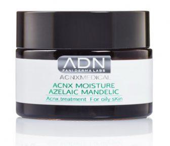 קרם לחות טיפולי לעור שמן לסוגיו – לאקנה ולגריס  -Acnx Moisture Azelaic Mandelic – אקנה וטיפול בפצעים