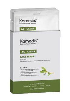 מסיכת בד לניקוי עמוק לעור שמן עם נטייה לפצעונים ואדמומיות – AC – CLEAR – FACE MASK