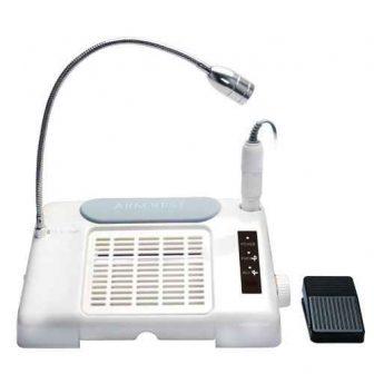 מכונת שיוף משולבת עם שואב ומנורת שולחן לד