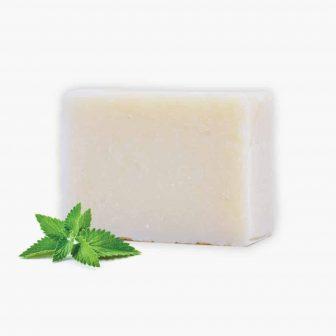 סבון מוצק טבעי בניחוח מנטה – סבון פנים וגוף – סדרת פנים וסדרת גוף